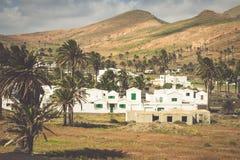 La Haria in Lanzarote - popular tourist destination. Stock Photo