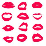 La haute de Web a détaillé les lèvres et l'illustration brillantes de bouche Ouvrez-vous et fermez-vous  illustration libre de droits