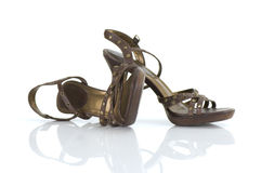 La haute guérissent des chaussures Image libre de droits