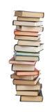 La haute pile de livres photographie stock libre de droits
