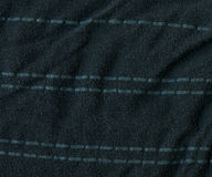 Texture de tissu de coton - gris-foncé avec des rayures Images libres de droits