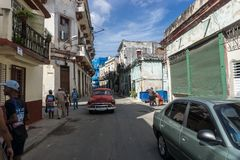 Inside China-town streets, general travel imagery from La Havana, Cuba Royalty Free Stock Image