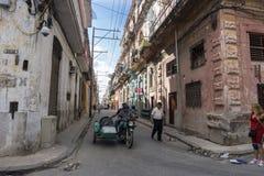 Inside China-town streets, general travel imagery from La Havana, Cuba. La Havana, Cuba on December 26, 2016 Inside China-town streets, general travel imagery Stock Images