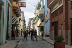Inside China-town streets, general travel imagery from La Havana, Cuba Royalty Free Stock Photography