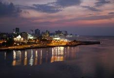 La Havane après coucher du soleil Photographie stock libre de droits