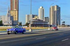 La Havane automobile classique, Cuba Images libres de droits