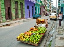 LA HAVANE, CUBA - 9 AOÛT 2016 : Support privé i de nourriture de voisinage image libre de droits