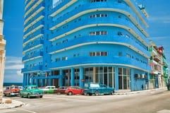 LA HAVANE, CUBA - 15 AOÛT 2016 Vue de la négligence d'hôtel de Deauville Photographie stock