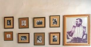 LA HAVANE, CUBA - 2 AVRIL 2012 : Exposition d'Institut central des statistiques d'Ernest Hemingway Photographie stock