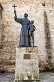 La Havane, Cuba - 12 décembre 2016 : La statue de l'effilochure Junipero S Photos stock
