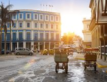 LA HAVANE, CUBA 27 JANVIER 2013 : rue de vieille La Havane Photos libres de droits