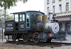 LA HAVANE, CUBA - 27 JANVIER 2013 : vieille locomotive à vapeur au centre de La Havane Images stock