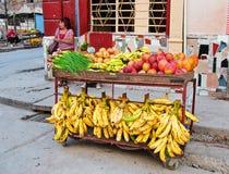 LA HAVANE, CUBA - 11 JUILLET 2016 : Support privé de nourriture de voisinage dedans photos libres de droits