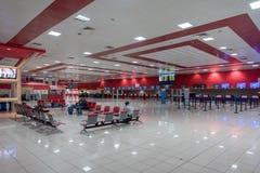 LA HAVANE, CUBA - 25 OCTOBRE 2017 : Havana International Jose Marti Airport Hall de attente Images libres de droits