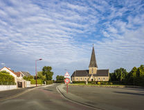 La Haye-du-Puits Church, Normandie, France Photographie stock