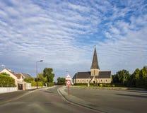 La Haye duPuits Church,诺曼底,法国 图库摄影