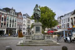 La Haye, Pays-Bas - 18 août 2015 : Une statue de Johan Image libre de droits