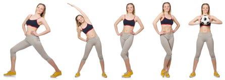 La hembra joven que hace ejercicios Foto de archivo