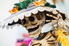 La Hermosa Niña blanca catrina Royalty Free Stock Photos