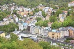 La hermosa vista de Karlovy varía, República Checa fotografía de archivo libre de regalías