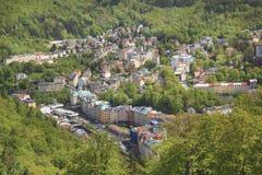 La hermosa vista de Karlovy varía, República Checa Imagen de archivo libre de regalías