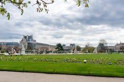 La hermosa vista de los jardines de Luxemburgo en París Imagen de archivo