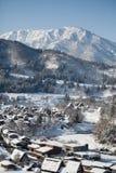 La hermosa vista de Shirakawa va los villgae Imagen de archivo libre de regalías