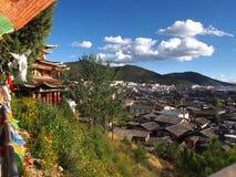 La hermosa vista en la ciudad vieja de Lijiang Yunan, China Fotografía de archivo libre de regalías