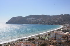 La Herradura Bay (from Punta de la Mona ) Royalty Free Stock Photography