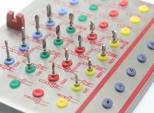 La herramienta perfora Prosthetist dental Fotografía de archivo libre de regalías