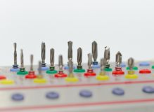 La herramienta perfora Prosthetist dental Imágenes de archivo libres de regalías