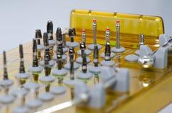 La herramienta perfora Prosthetist dental Imagen de archivo libre de regalías