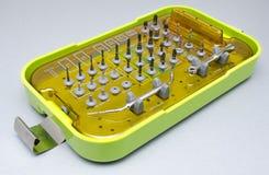 La herramienta perfora Prosthetist dental Fotos de archivo