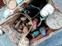 La herramienta pertenece de pintor de madera Fotografía de archivo libre de regalías