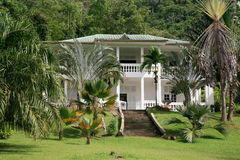 La-het Restaurant van Schoonheidamã©dã©e, Route des Plages, Remire Montjoly, Cayennepeper, Frans-Guyana Royalty-vrije Stock Foto's