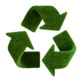 La hierba recicla símbolo Imagenes de archivo