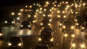 La highway night timelapse stock video footage