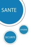 La higiene y la seguridad protegen salud Imágenes de archivo libres de regalías
