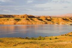 la hill lake Powell wody. Zdjęcie Royalty Free