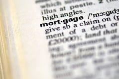 La hipoteca de la palabra Imagen de archivo