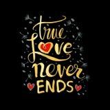 La historia de amor verdadera nunca termina Fotografía de archivo libre de regalías