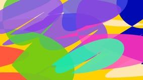 La historieta abstracta coloreó imágenes Fantasía, puntos del color en el movimiento Substrato din?mico