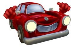 La historieta del coche manosea con los dedos para arriba Imagen de archivo libre de regalías
