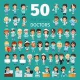 La historieta doctor a Big Collection Imagen de archivo libre de regalías