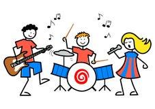 La historieta embroma música stock de ilustración