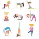 La historieta embroma yoga Imágenes de archivo libres de regalías