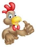 La historieta manosea con los dedos encima de pollo Imagen de archivo libre de regalías