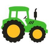 La historieta verde grande del vector del tractor aisló stock de ilustración