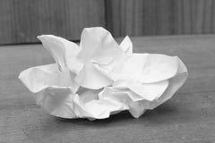 La hoja abstracta del Libro Blanco monocromático, empapela arrugado Foto de archivo libre de regalías