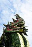 La hoja artificial es una serpiente Fotografía de archivo libre de regalías